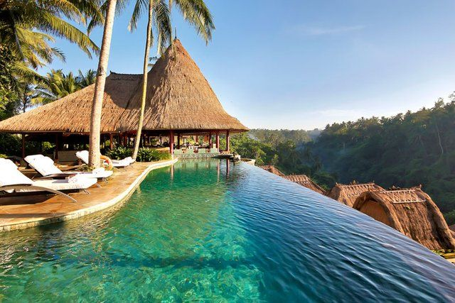 Fancy - Viceroy Bali –Main Pool & Cascades Restaurant view