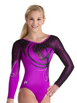 Serpentine Whirl Long Sleeve Leo from GK Elite http://www.gkelite.com/Gymnastics-SpecialOrderDesignStudio-WomensLongSleeveLeotards/9587