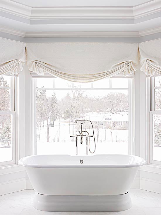 Bathroom Bay Window Treatments