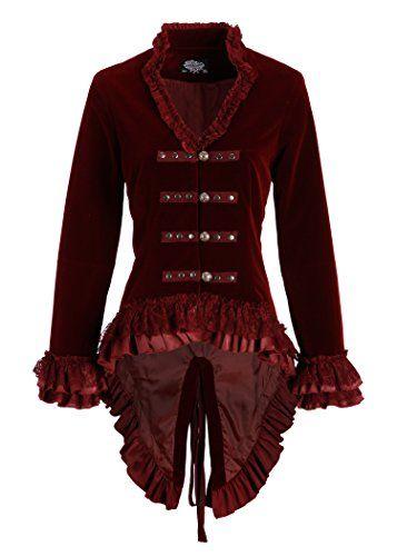 Weinrote viktorianische Damen Gothik Samt Jacke mit Spitz... https://www.amazon.de/dp/B018SVHC6C/ref=cm_sw_r_pi_dp_x_Nyc9xb53RWQAH
