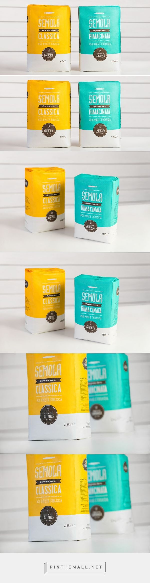 Flour Pack Loiudice — The Dieline - Branding & Packaging... - a grouped images picture - Pin Them All
