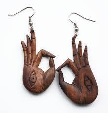 Afbeeldingsresultaat voor houten oorbellen