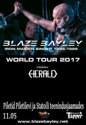 Klubi Tapperia isännöi toukokuisena torstaina 11.5. Blaze Bailey, joka on tuttu nimi ikonista Iron Maiden -yhtyettä fanittavalle. Bailey toimi yhtyeen solistina vuosina 1994-1999 ennen ja jälkeen Bruce Dickinsonin. Mies saapuu Tallinnaan maailmankiertueellaan.#eckeröline #tallinna #blazebaley #ironmaiden #tapper