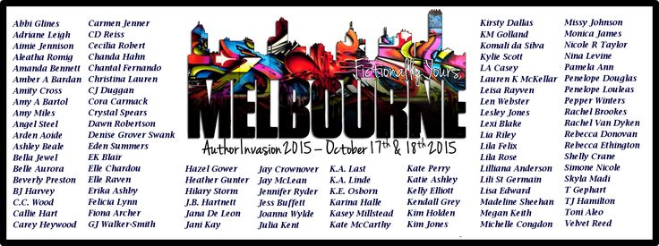 Omfg  I need to be there!!! Fictionally Yours, Melbourne - Author Invasion