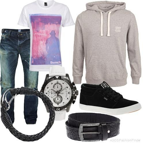 8. One outfit for the opposite sex: the boys I like often look pretty causal. With a simple pair of jeans, tennis shoes, and a t-shirt. They also almost always have a hoodie to go along with their outfit, determined by the weather. Along with every other guy they almost always where watches and belts to pull together their outfits.