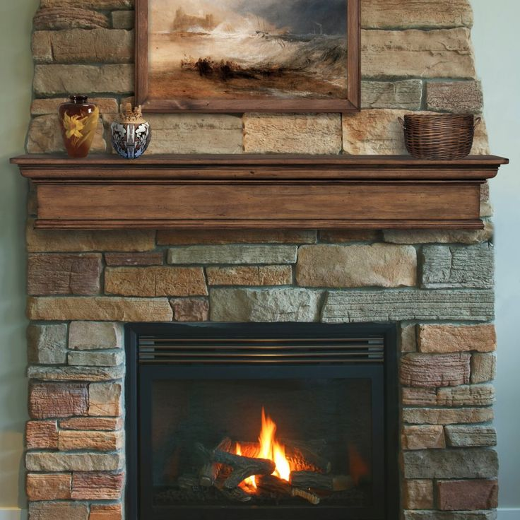 Pearl Mantels Savannah Mantel Shelf - The Pearl Mantels Savannah Mantel Shelf brings a warm, finished look to your hearth and completes any room. Choose from a distressed Taos finish o...