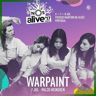 6-8th july 2017  NOS Alive, formerly Optimus Alive, is the leading music festival in Portugal and has caught the rest of the world's attention due to a single combination of an eclectic line up, warm weather and unique coastline location.