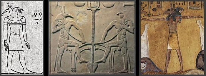 LE VERSEAU: Seth et Osiris unissent les deux terres (Semataouy).. Le dieu HÂP'Y du Nil était  hap'reSEth et hap'MEth  qui Liaient les deux terres(SE-MA=union et Ta-OUY= deux terres). Hapy était Le verseau égyptien ou porteur d'eau du Nil, devenu le Janus-Saturne des romains, le montreur de chemin, et Le porteur d'eau qui indique l' endroit de la Pâque dans Marc 14 12-16: «..vous rencontrerez un homme portant une cruche d'eau ; suivez-le..»