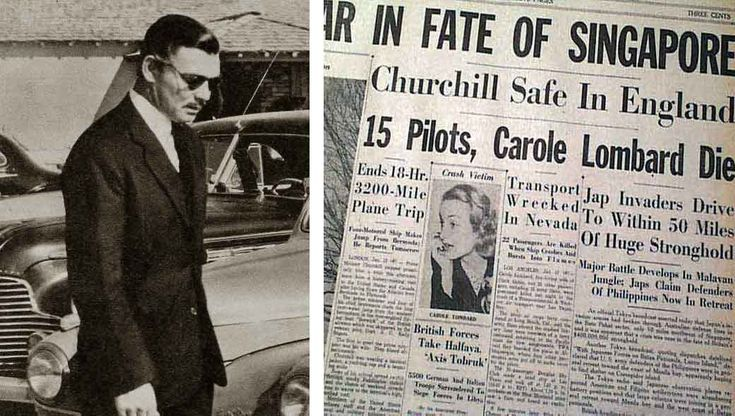 Clark Gable on the day Carole Lombard was killed. This is the saddest thing in the world.