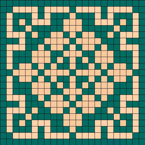 Old Fashioned Tile perler bead pattern