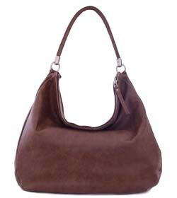 "Chimpel ""DARIA"" Ostrish leather Hobo Handbag. Soft leather with contrasting ostrich leather trim. Cape Town, South Africa"