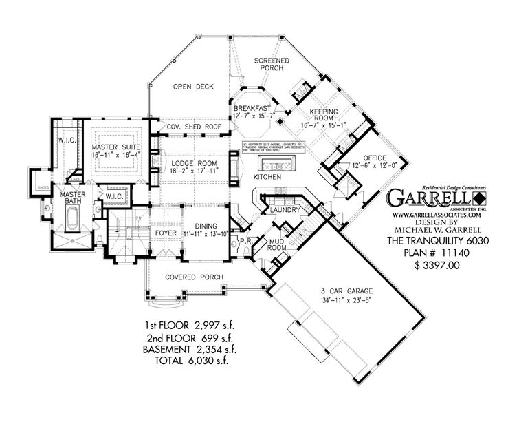 21 best house plan images on pinterest cottage house plans Mountain Craftsman House Plans tranquility house plan, 6030 plan 11140, 1st floor plan, mountain style house mountain craftsman house plans