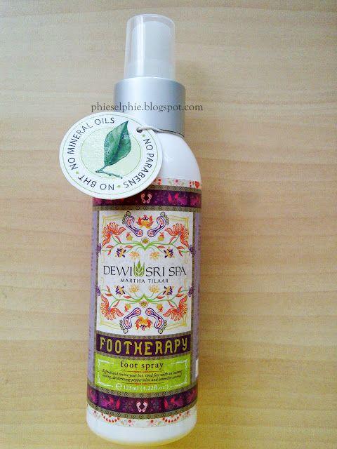 Sylvia's World: Dewi Sri Spa Martha Tilaar Foot Spray