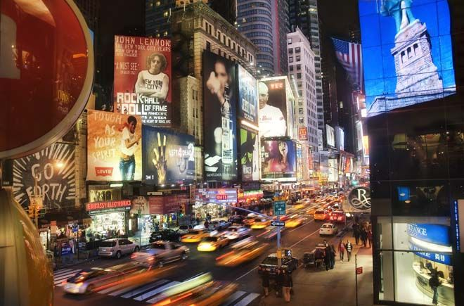 Proposed hotel sky lobby for Times Square, NYC.