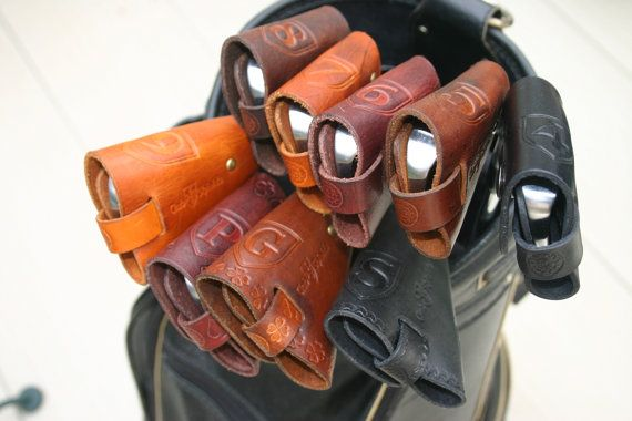 "ClubShields ""Players Series"" Custom Made Leather Golf Head Covers"