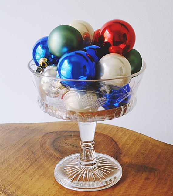 Check out this item in my Etsy shop https://www.etsy.com/ca/listing/549568980/pressed-glass-compote-with-vintage