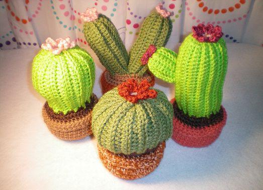 Crochet Cactus Garden ~ Patrón Gratuito
