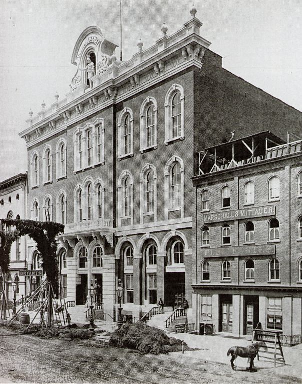 tammany hall was a real building in new york city it was the ...
