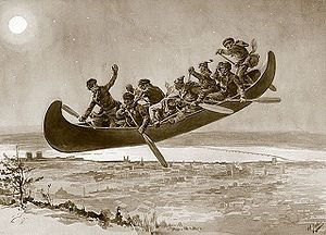 La Chasse-Galerie (French-Canadian folklore about a magic canoe)