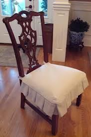 Set Of 2 Chair Seat Covers Natural White Cotton Canvas Custom Sizes Made To Order