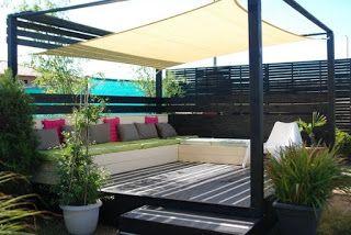 Pleins d' idées pour créer des terrasses design en palettes ~ Idées Et Tuto De Créations d'Objets En Palettes