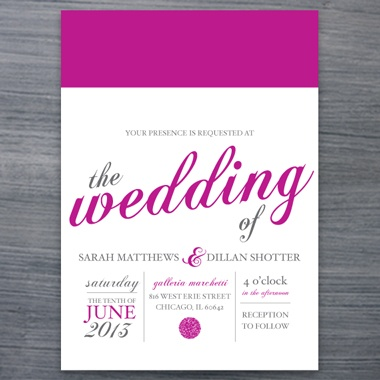 invitation copy: Invitations Samples, Wedding Invitations, Invitations Copy Repin, You R Invitations, Invitations Ideas, Chic Invitations, Invitations Pixie, Delight, Magenta Wedding