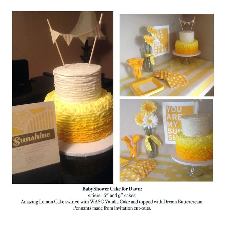 You Are My Sunshine Cake - Lemon - Yellow Ombre — Baby Shower