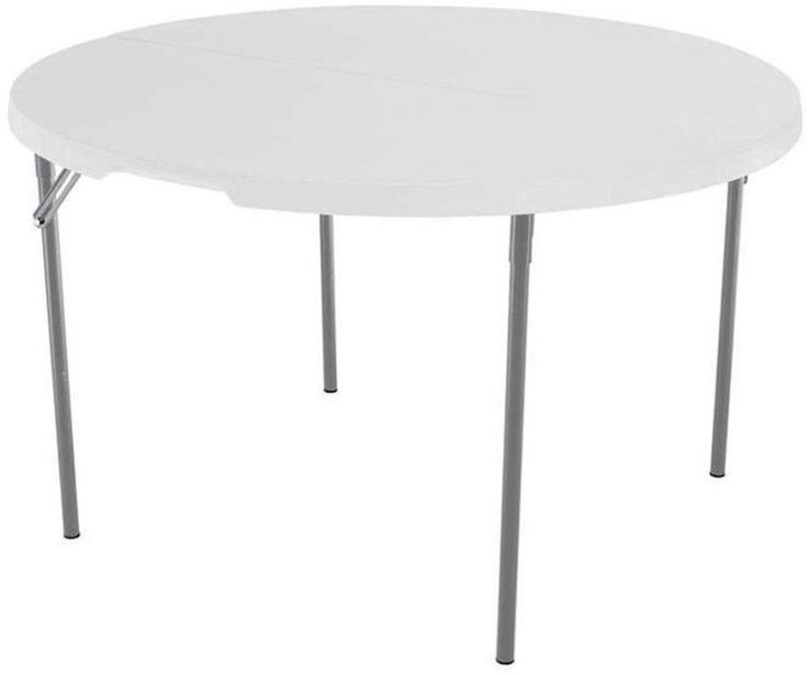 Lifetime 48 in. White Granite Round Fold-In-Half Table Home Game Room Furniture #Lifetime #Table