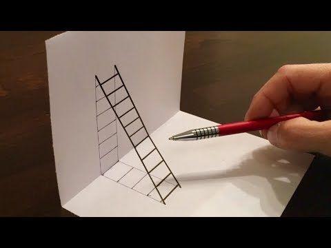 3D zeichnen Illusion malen/ Zeitraffer – YouTube