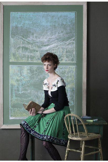 Anthropologie Archive: Rustling Wind Skirt