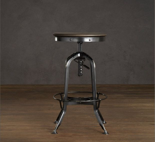 Toledo Barstool: Chair, Restoration Hardware, Distressed Black, Vintage Toledo, Toledo Barstool, Barstool Distressed, Stools