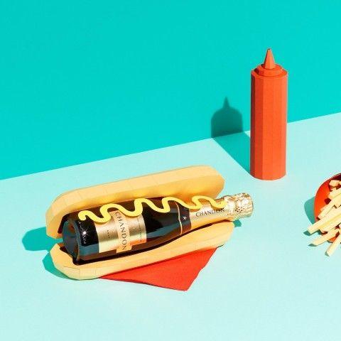 REVERBERE , papercraft, hot dog