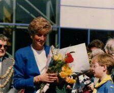 16 April 1991 Princess Diana opened Splash swimming pool in Bridgwater