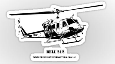 Bell 212 Sticker - $2.22  Buy 6 or more for 50% discount!