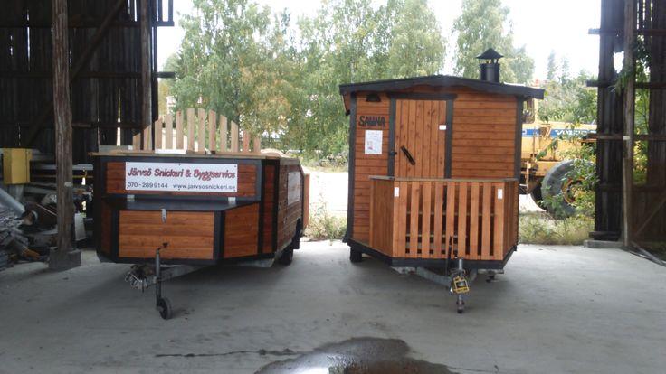 hottub and suana on wheels badtunna och bastu på Hjul