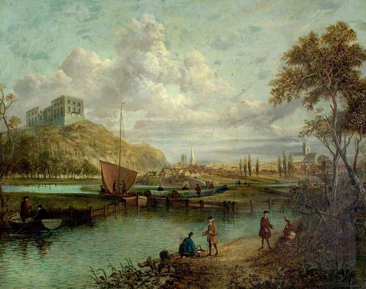 A Panorama of Nottingham from the Canal  by Paul Sandby