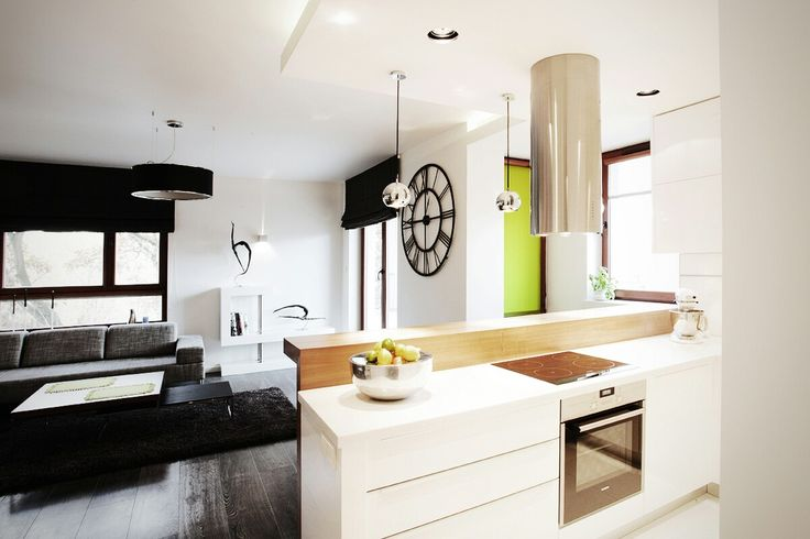 Apartament in Warsaw #modernapartament #interiordesign #livingroom #kitchen