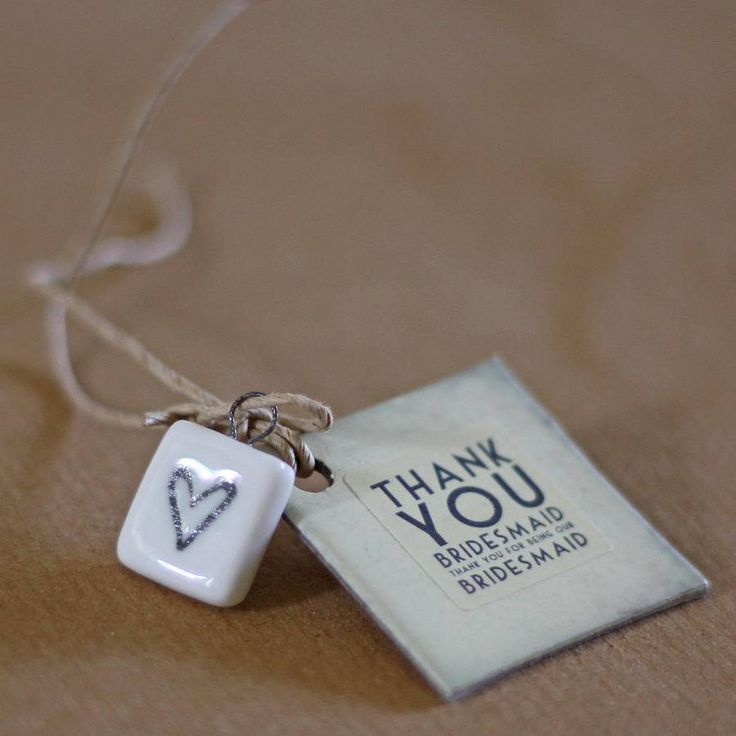 Add these beautiful tags to your bridesmaid's gifts to give them that special touch.  £1.00
