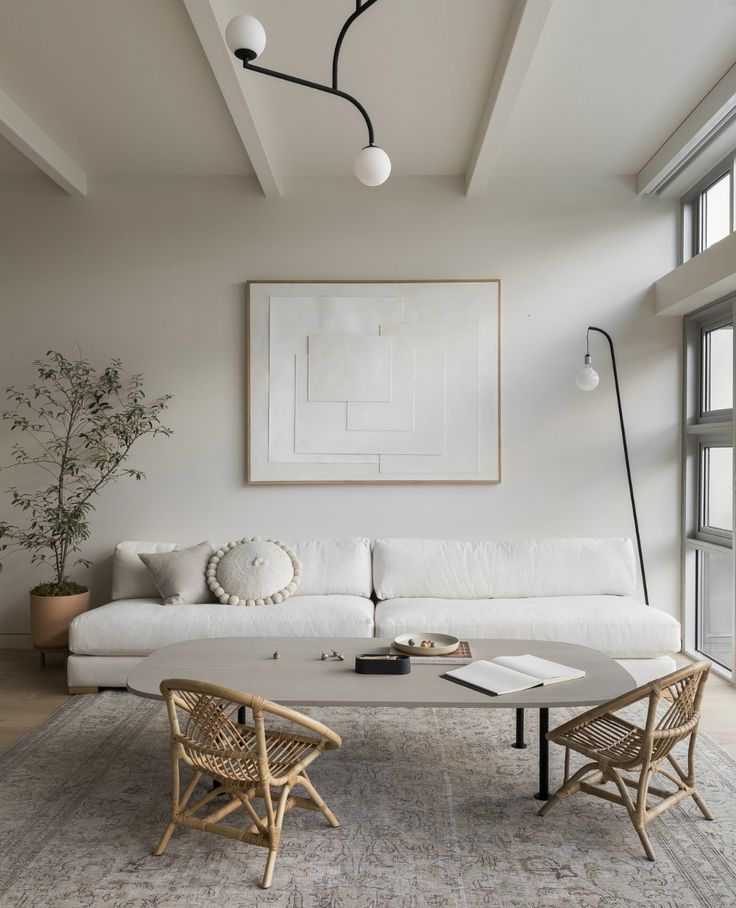 Photo 6 Of 11 In This Airy Portland Loft Was No Easy Task To Transform In 2020 Interior Living Room Decor Neutral Living Room #no #furniture #living #room