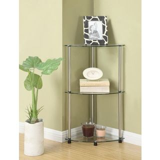 Shop for Convenience Concepts Designs2Go Classic Glass 3-tier Corner Shelf. Free Shipping on orders over $45 at Overstock.com - Your Online Furniture Outlet Store! Get 5% in rewards with Club O!