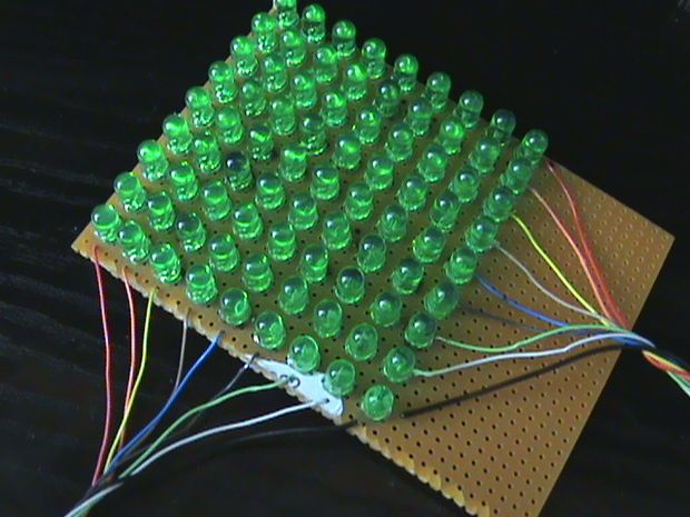9*9 LED matrix with Arduino                                                                                                                                                                                 More