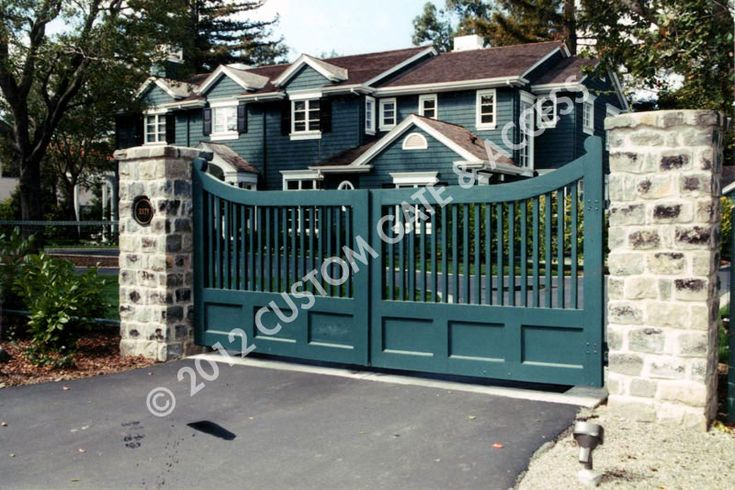 Custom wooden driveway gate gates pinterest