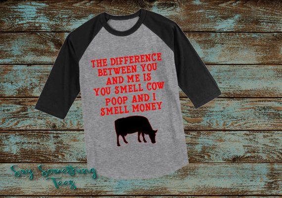 Cow Poop Raglan Shirt Cow shirt cattle shirt by SaySomethingTees