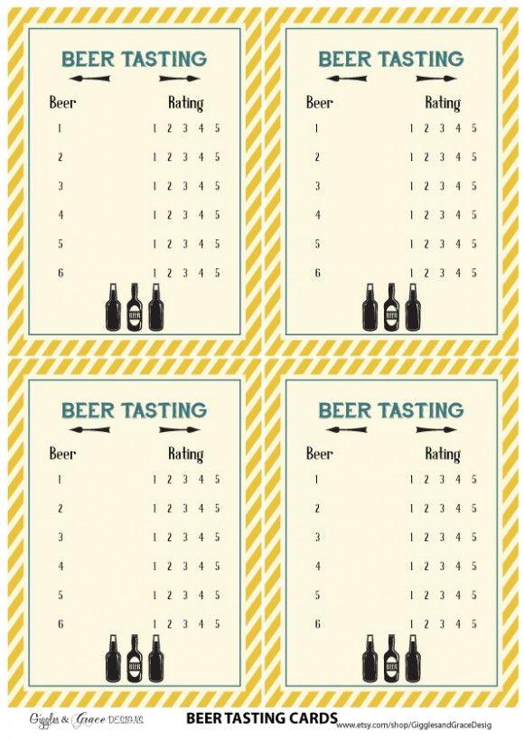 free printables beer tasting cards
