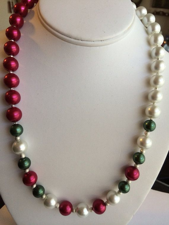 Christmas Necklace on Etsy, $25.00