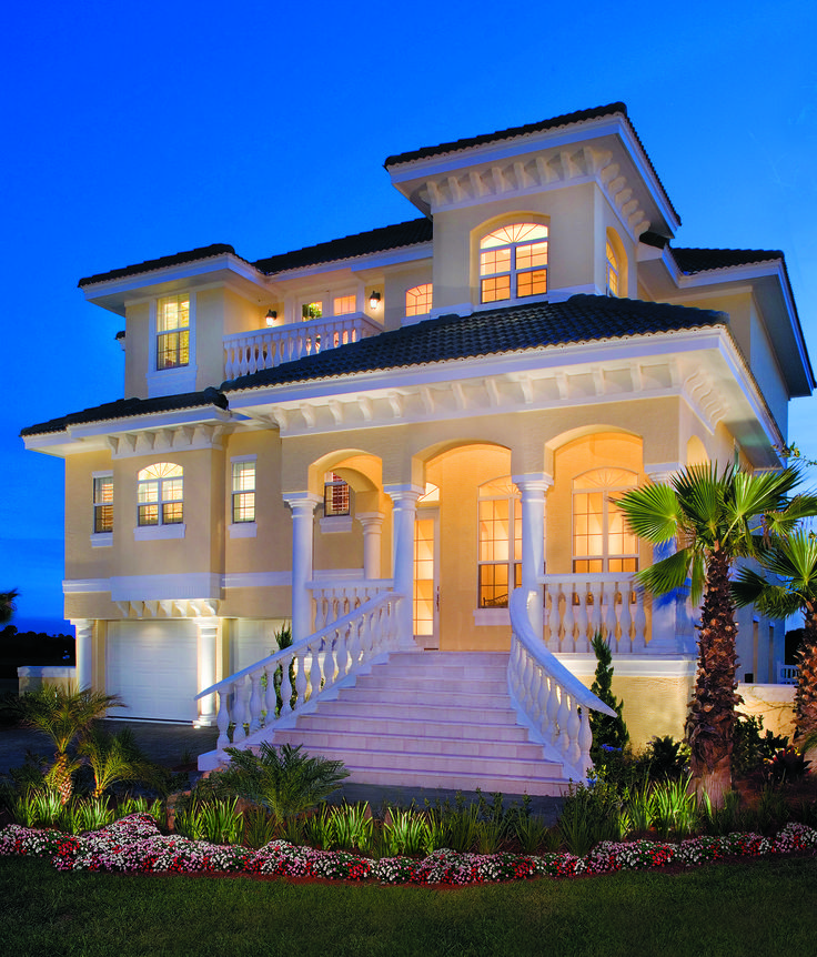 Front Elevation At Night Of The Sater Design Collection S Luxury