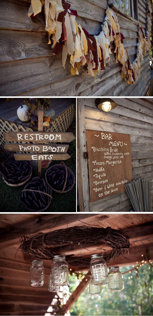 Rustic Outdoor Fall Wedding in South Carolina - WeddingWire: The Blog | WeddingWire: The Blog