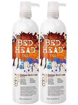 Tigi Bed Head Colour Combat Colour Goddess Tween Duo Pack 2x750ml by TIGI. $34.47. Colour Lockdown Patented Technology. Deep those rich dark chocolate & sweet cherry hues looking delicious!. Therapy for racy red heads or bodacious brunettes. Battles Fading and dulling dryness. Tigi Bed Head Colour Combat Colour Goddess Tween Duo Pack TIGI Bed Head Colour Combat Colour Goddess Shampoo 750ml  is a nutrient rich shampoo that battles fading and dulling dryness. It keeps those rich ...