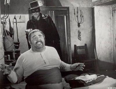 Guy Williams y Henry Calvin en el Zorro