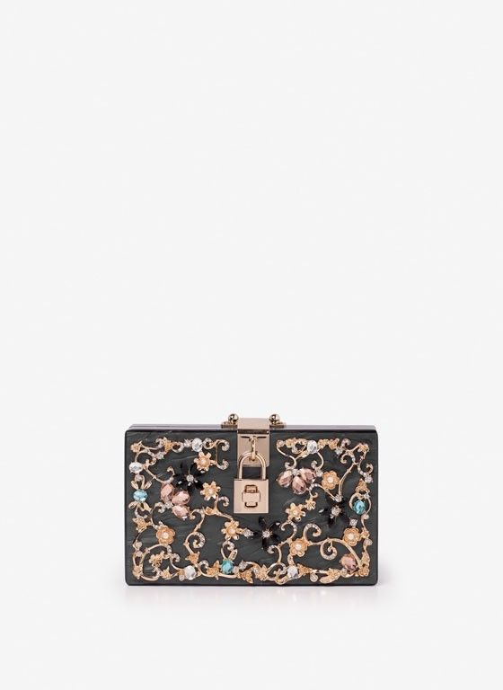 VIDA Leather Statement Clutch - Aubergine Florals by VIDA
